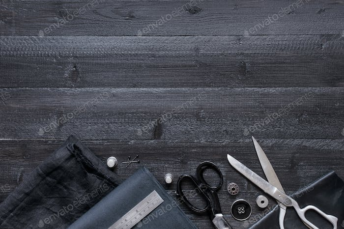 Black Sewing Background