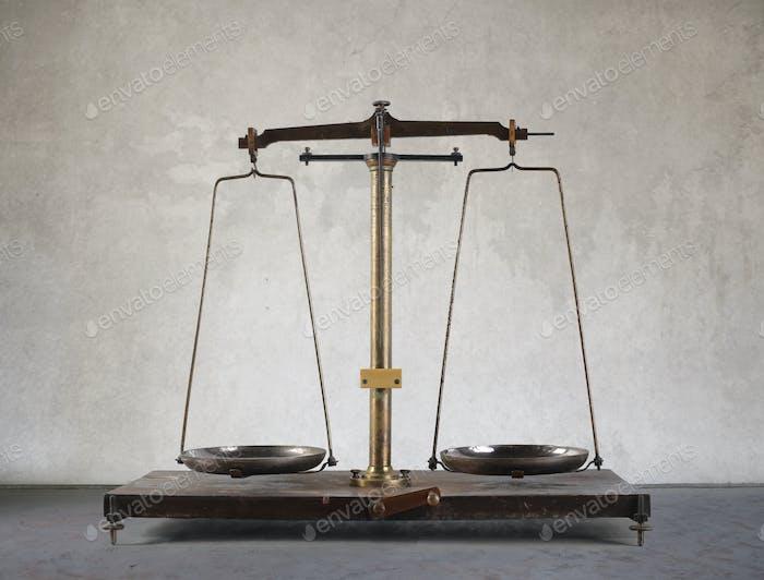 Eine Vintage-Balance