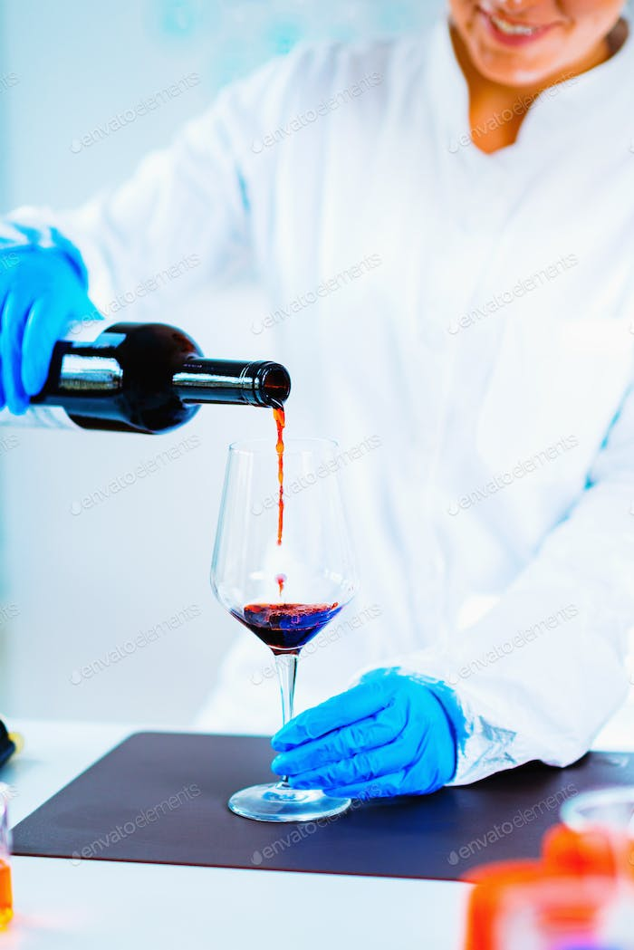 Quality control of wine