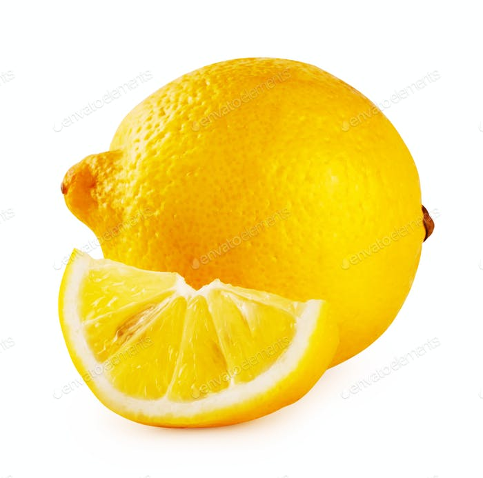 Whole lemon and slice