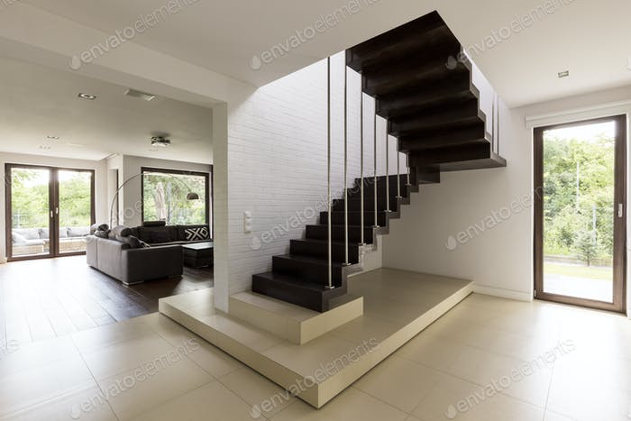 Staircase in the living room