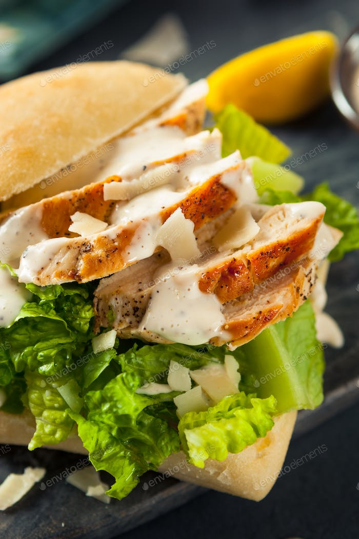 Homemade Chicken Caesar Sandwich