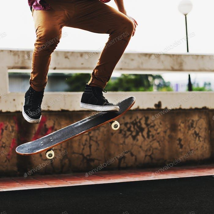 Skateboard Extreme Sport Skater Activity Concept