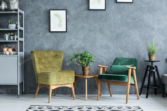 Flat with modern furniture