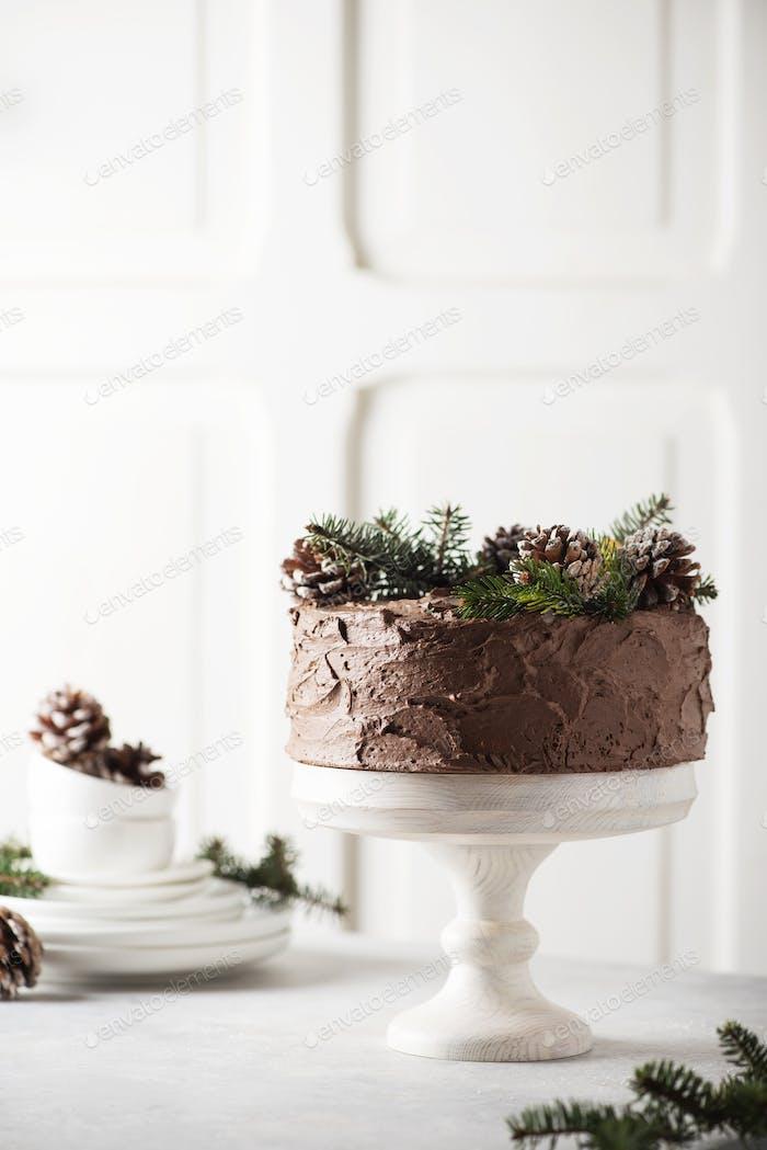 Weihnachtskuchen mit Schokolade