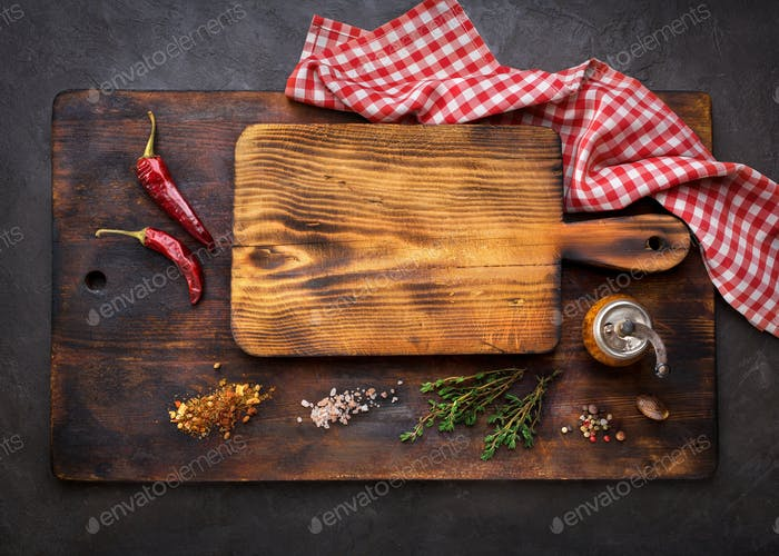 Cutting Boards and Spice for cooking