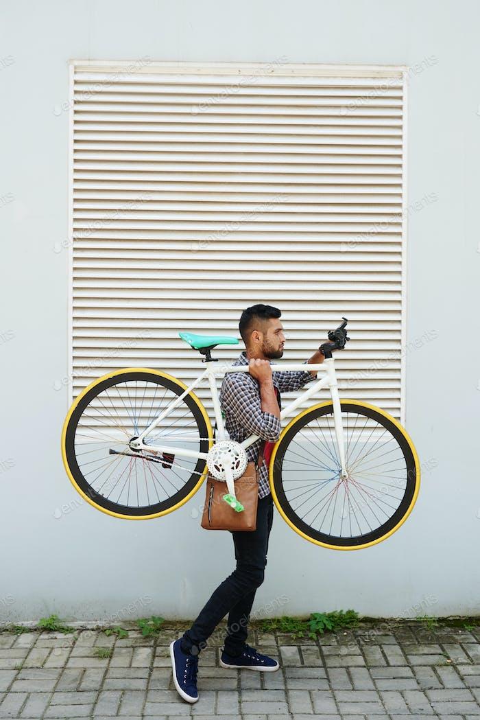 Fahrrad tragen