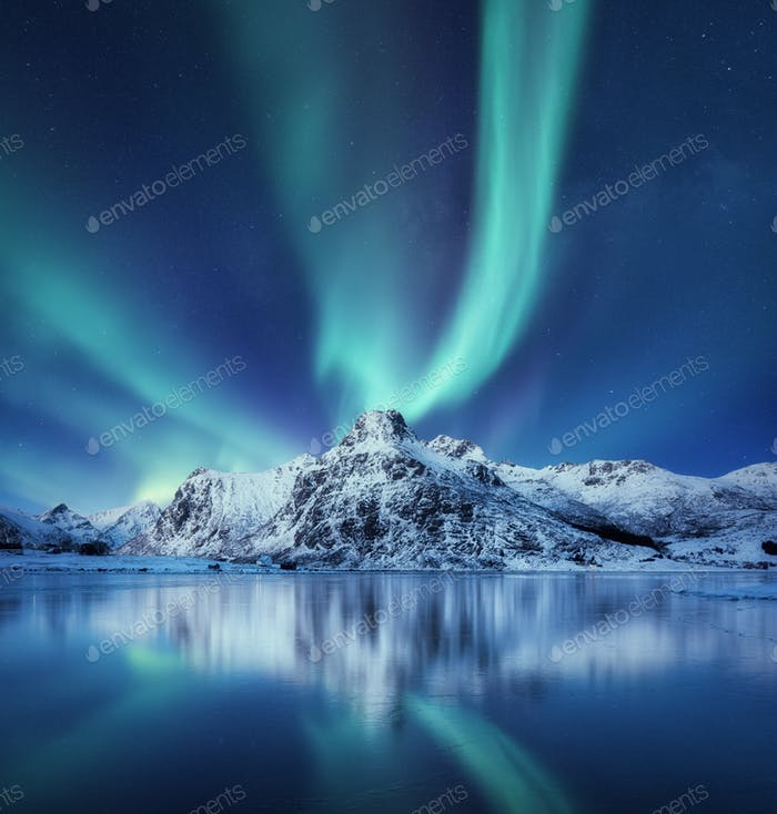 Aurora Borealis, Lofoten Inseln, Norwegen