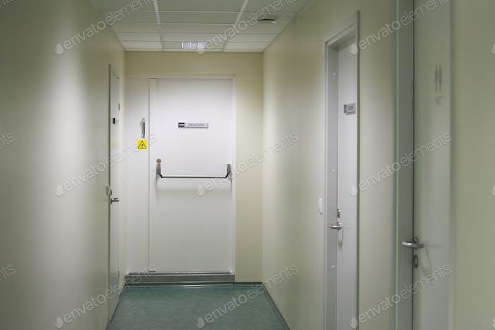 Empty Hallway in a building
