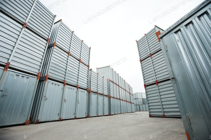 Spacious container storage area