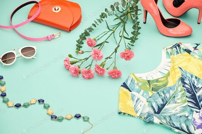 Spring Design Fashion girl clothes set.Pastel