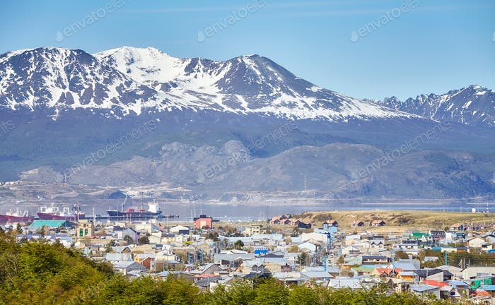 Ushuaia city, capital of Tierra del Fuego, Argentina.