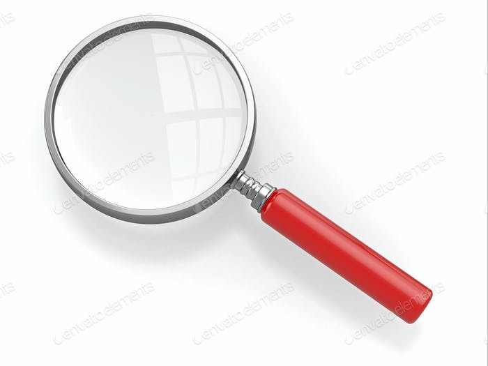 Thumbnail for Magnifying glass. Loupe on white background