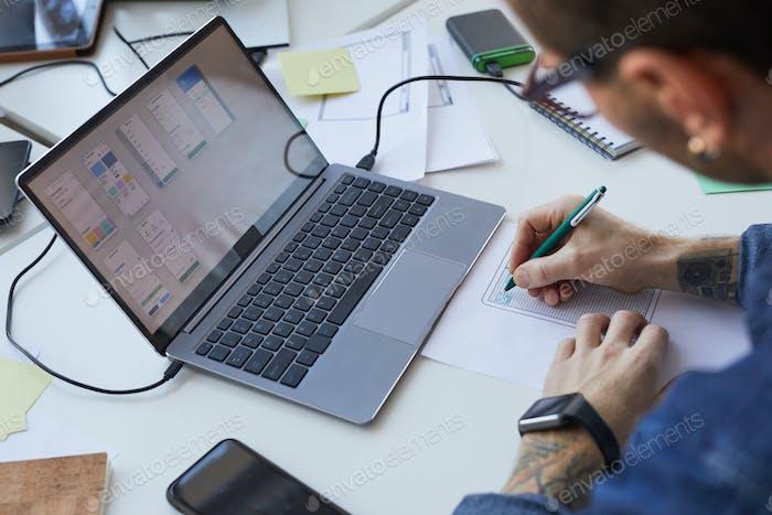 IT Developer Designing Interface