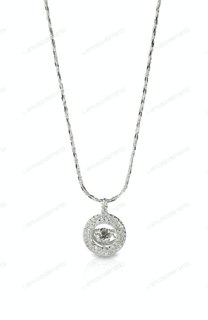 Diamant-Anhänger Halskette an einer Kette