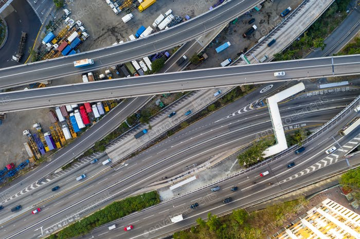 Hong Kong, 12. Februar 2019: Transportsystem in Hongkong
