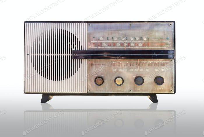 Vintage radio isolated