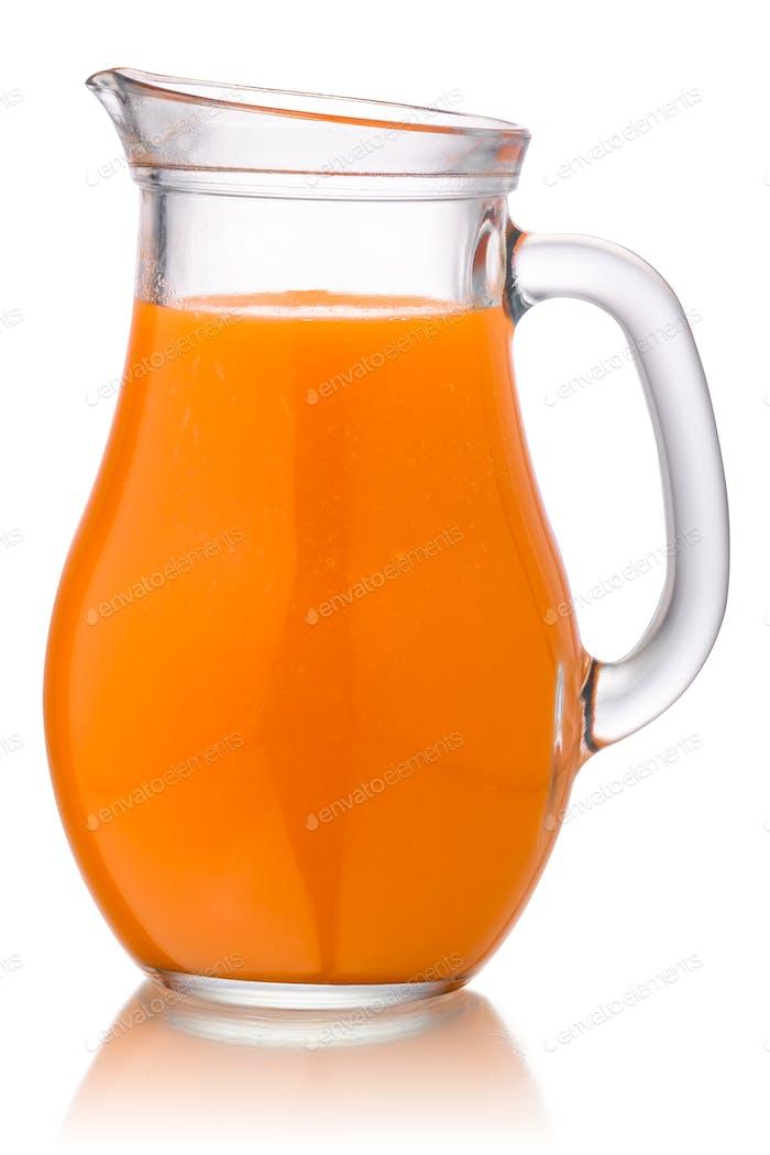 Carrot juice smoothie jug, paths