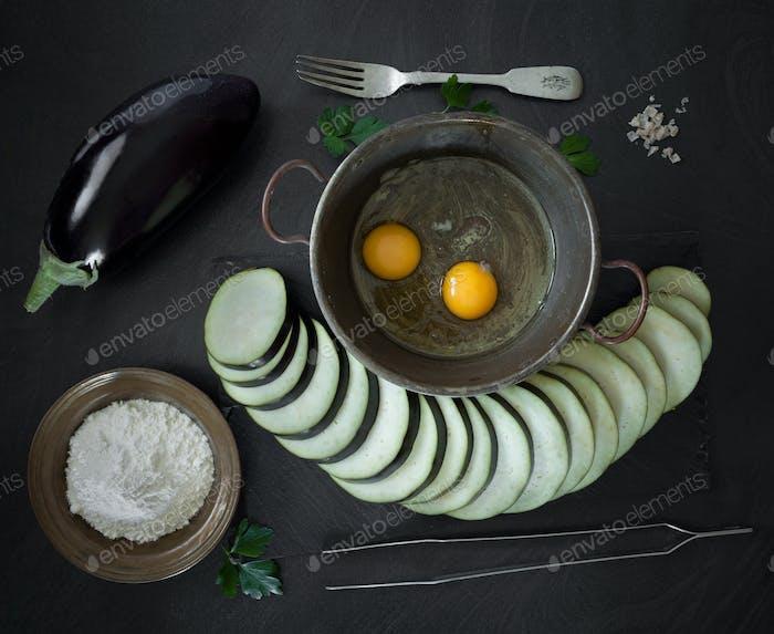 Fried Berenjena Ingredientes