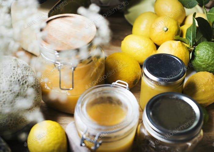 Lemon curd food photography recipe idea