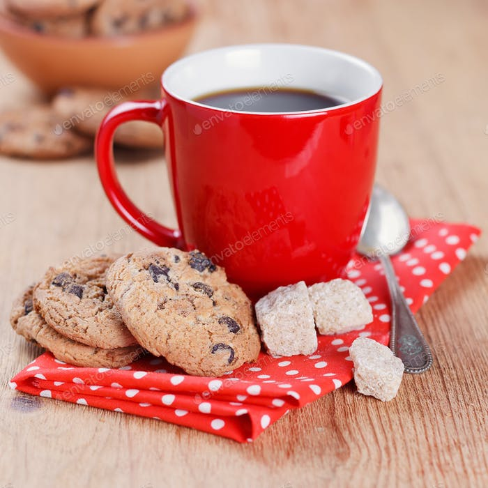 Coffee with Oatmeal Cookies