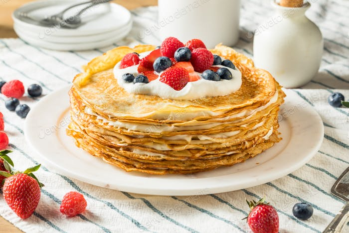 Sweet Homemade Layed Crepe Cake