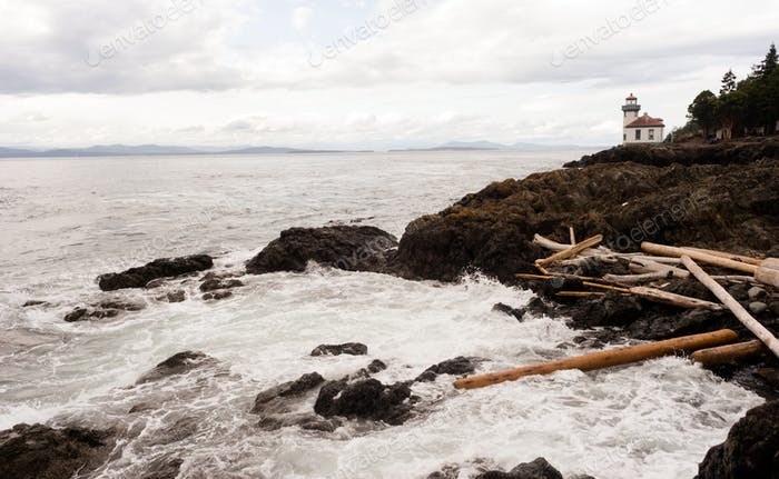 Lime Kiln Point Lighthouse San Juan Islands Puget Sound Washingtton