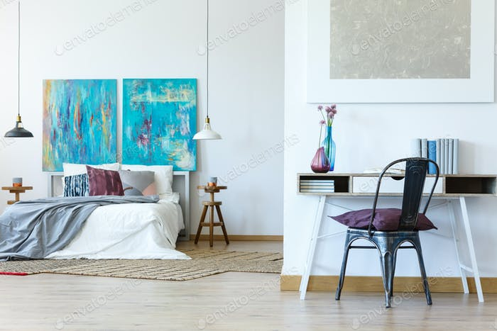Multifunctional bedroom space