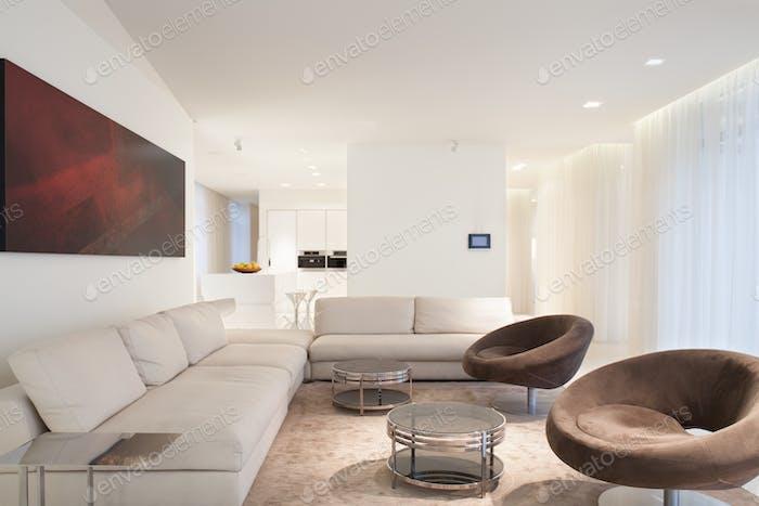 Beige luxury living room