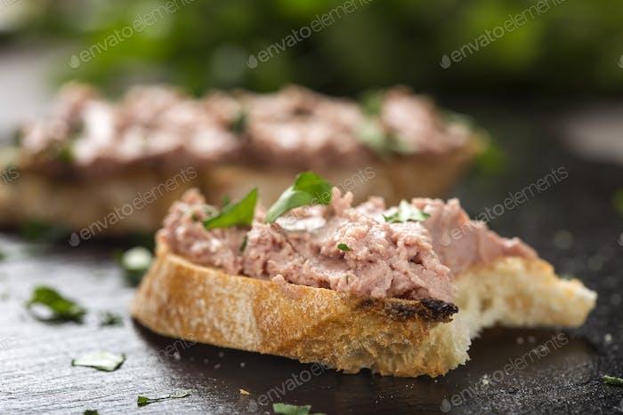 Sandwich in Liverwurst