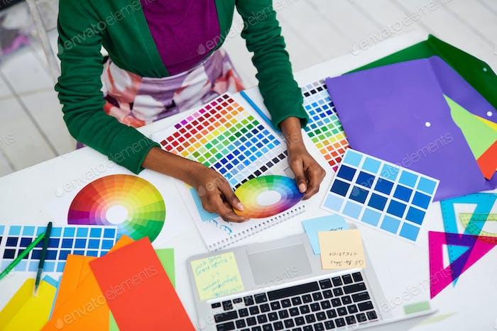 Arbeiten mit Farbdiagramm