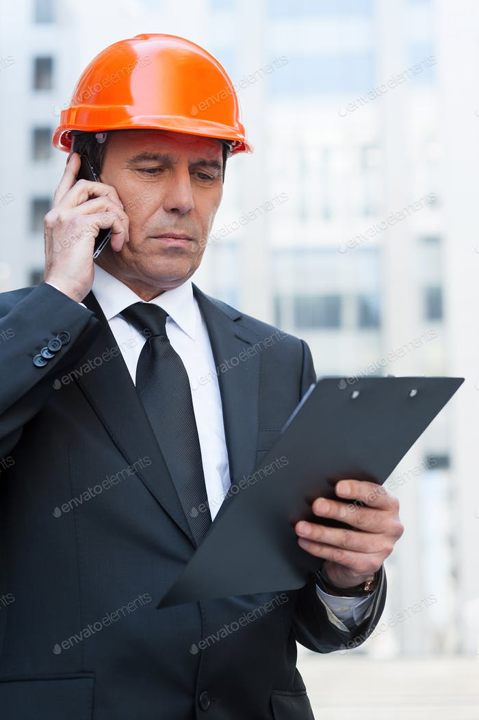 Busy contractor.