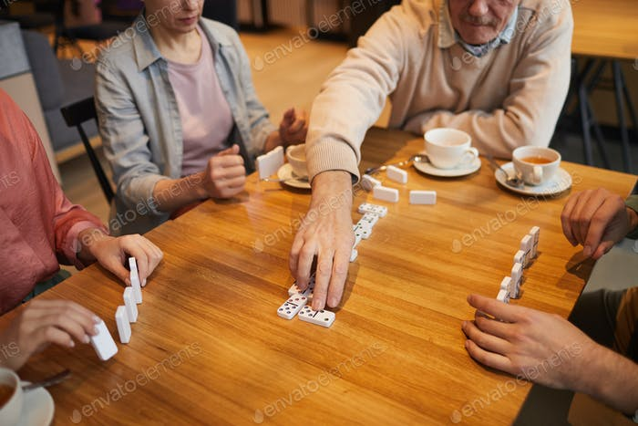 People playing in board games
