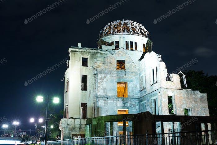 Eine Bombenkuppel in Hiroshima