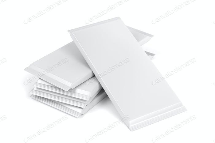 Blank chocolate bar packagings