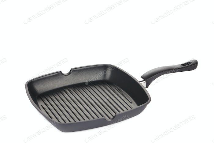 Black frying pan.