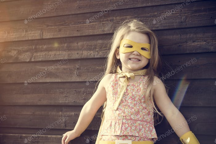 Superhero Baby Girl Brave Adorable Concept