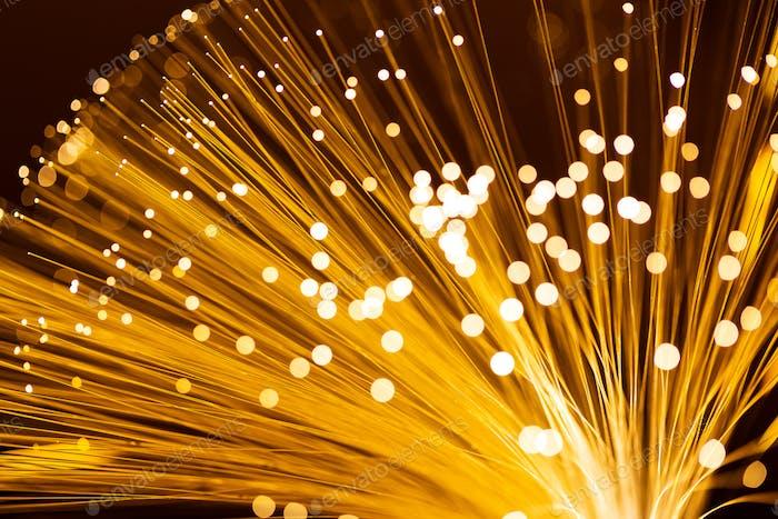 Yellow fiber optics cable