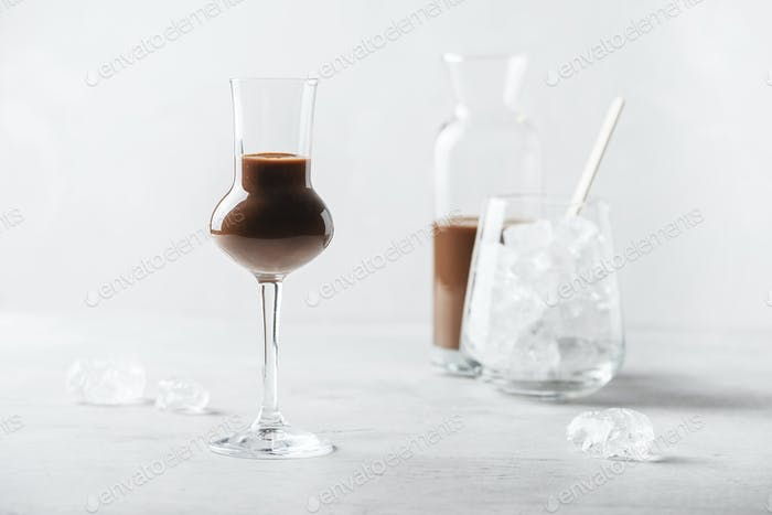 Sweet chocolate liqueur