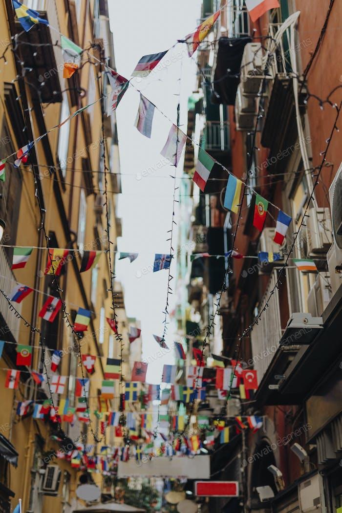 Banderas en Nápoles