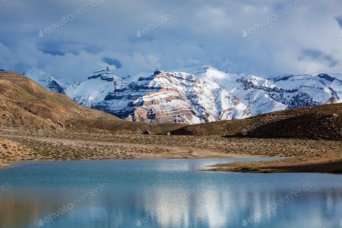 Dhankar Lake. Spiti Valley, Himachal Pradesh, India