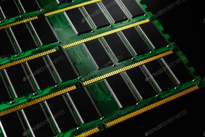 Stick of computer random access memory. Ram