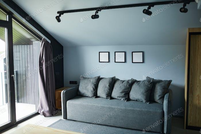 Minimal Interior in Blue
