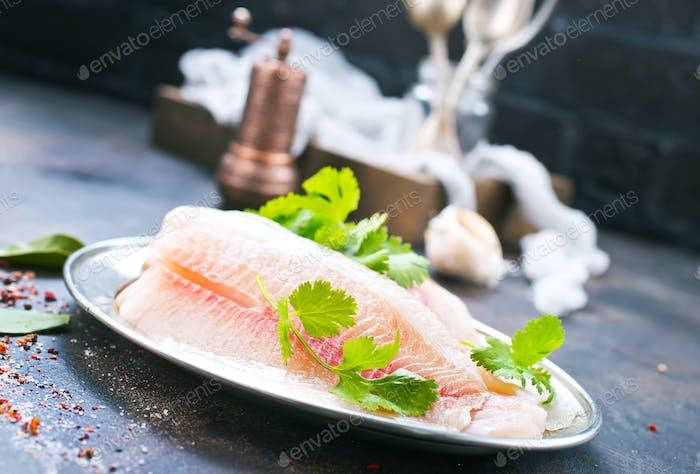 rohes Fischfilet