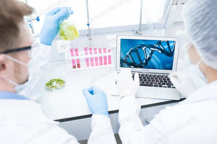 Two Scientists doing Research