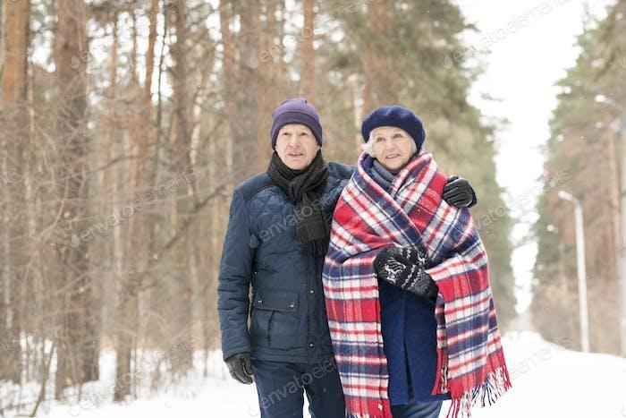 Mature Couple in Winter Park