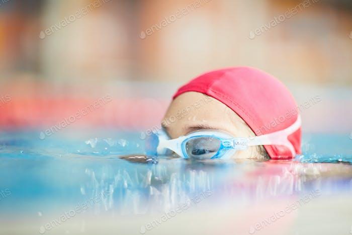 Head of swimmer