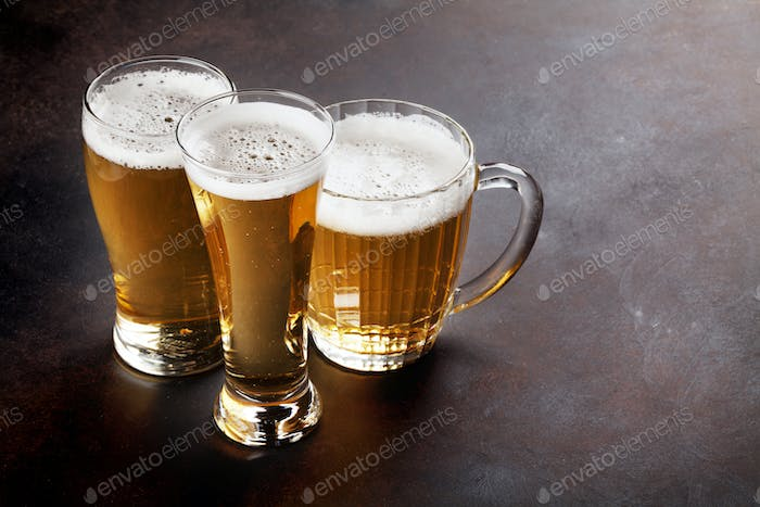 Lager beer mugs