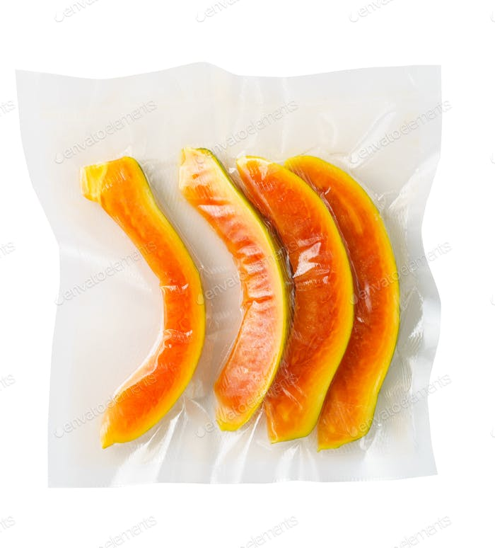 Vacuum sealed papaya
