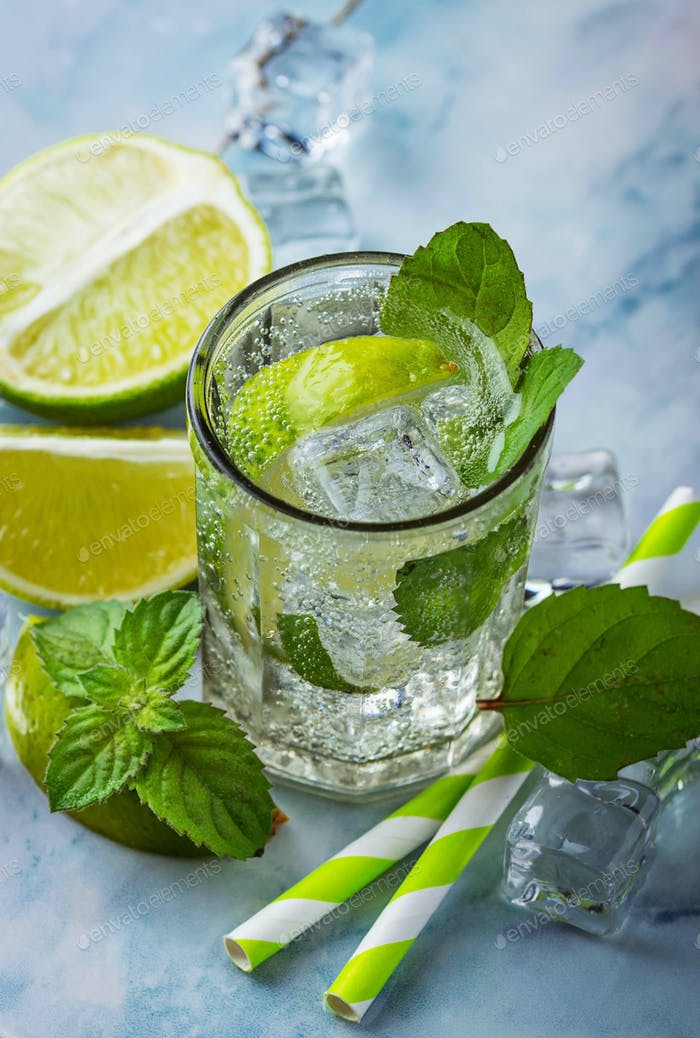 Thumbnail for Cocktail mojito with mint, lime and ice
